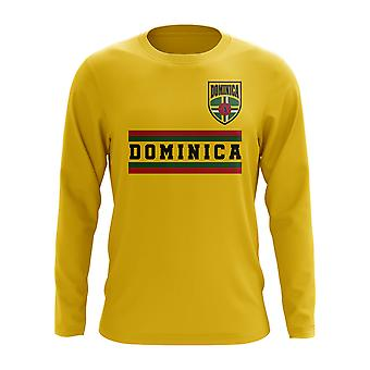 Dominica Core Football Country Long Sleeve T-Shirt (Yellow)