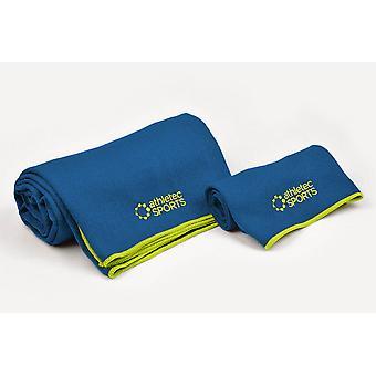 Dii Yoga Asciugamano Blu (Set Di 2)