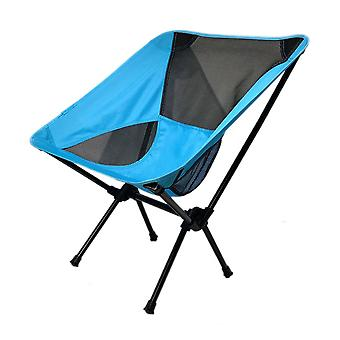 Blue Oxford Cloth  Mesh  Steel Pipe Outdoor Ultralight Portable Folding Chair