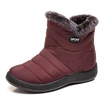 冬の雪防水暖かいぬいぐるい足首ブーツ