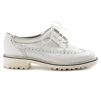 Sapato de renda de couro branco Sangiorgio