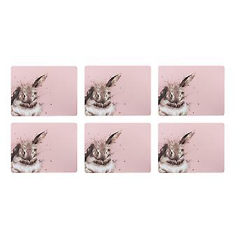 Wrendale Designs Bathtime Rabbit Placemats, Set of 4