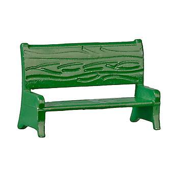Dolls House Green Garden Bench 1:24 Half Inch Beach Outdoor Furniture