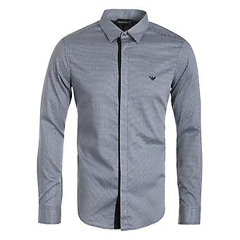 Emporio Armani Houndstooth Shirt - Black & White