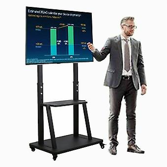 """Tv Mobile Cart Floor Tv Mount Stand Bracket Rolling For Home Office 32"""" To 80"""""""