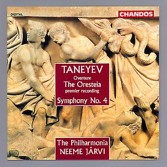 S. Taneyev - Sergey Ivanovich Taneyev: Overture, the Oresteia/Symphony No. 4 [CD] USA import