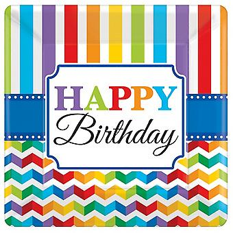 Party Signs Bright Birthday 8 Pieces Bt314207