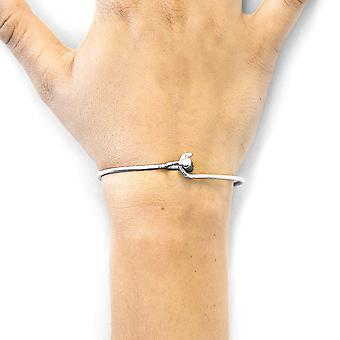 ANCHOR & CREW Hardy Buckle Midi Geometric Silver Bangle