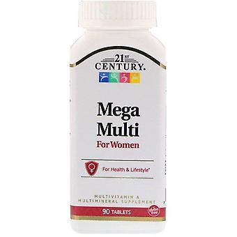 21st Century, Mega Multi, For Women, Multivitamin & Multimineral, 90 Tablets