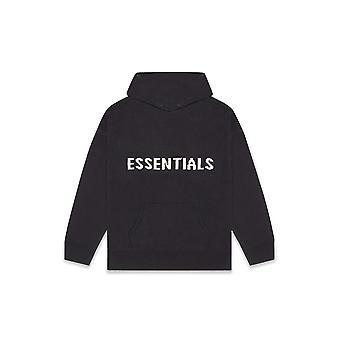 Fear Of God Essentials Knit Hoodie Black - Clothing