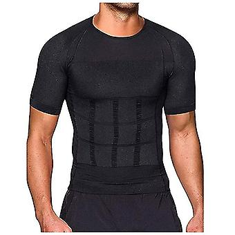 Men's New Body Sculpting Short-sleeved, Beer Belly, Abdomen Corset, Slim Casual