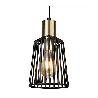 Lámpara Colgante Vogelkooi, Negra, 16 Cm