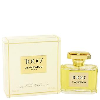 1000 Eau De Toilette Spray por Jean Patou 2.5 oz Eau De Toilette Spray