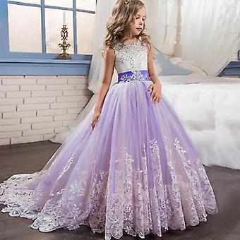 Long Bridesmaid Kids Dress