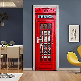 Telephone Police Box Door Decoration Wallpaper 3d Wall Sticker