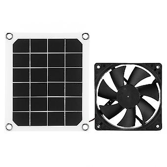 Outdoor Solar Power Panel Exhaust Fan Waterproof Usb Charging For Greenhouse