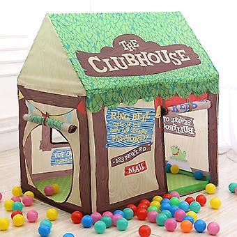 الأطفال المنزلية الطباعة لعب خيمة صغيرة لعبة البيت (الأخضر)