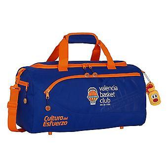Sports bag Valencia Basket Blue Orange (25 L)