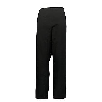 Women With Control Women's Pants Plus Slim Ankle Waist Seams Black A239671