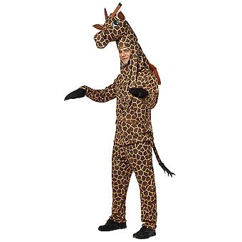 Adult Giraffe Zoo Safari Animal Fancy Dress Costume