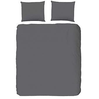 duvet cover Uni 220 x 200 cm cotton/satin grey