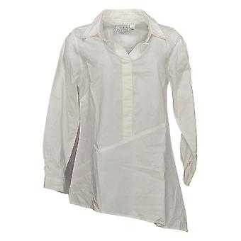 Joan Rivers Women's Top Square Neck Printed Stevie Blouse White A370607