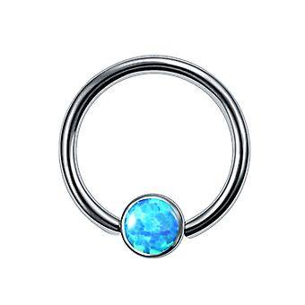 Titanium Opal Ear Septum