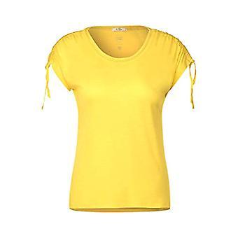 Cecil 315162 mit Kurzarm und Raffungen T-Shirt, Radiant Yellow, Medium Woman