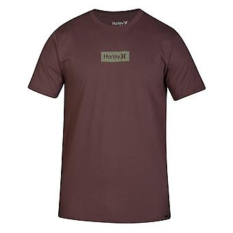 Hurley One & Only Small Box Short Sleeve T-Shirt in Plum Eclipse