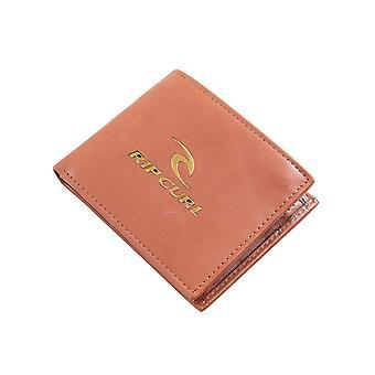 Rip Curl Ikoniska RFID 2 In1 läder plånbok i brunt