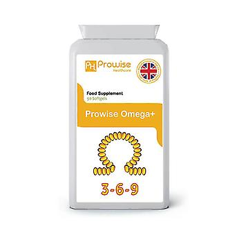 Omega 3, 6 & 9 Fish Oil 1000mg 90 Capsules | Made In UK by Prowise