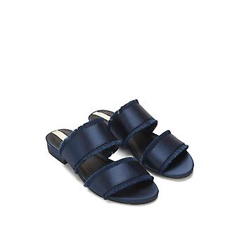 Kenneth Cole New York Womens Viola 2 Fabric Open Toe Casual Slide Sandals