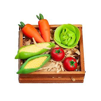 Poupées Maison Caisse de légumes 1:12 Cuisine Greengrocers Food Shop Accessoire