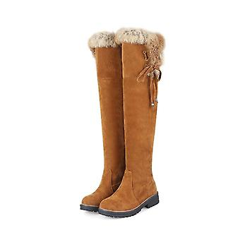 Winter Suede Knee High Boots Ladies Fashion Warm Boots
