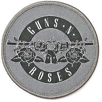 Guns N' Roses - Standard patch for hvit sirkellogo