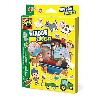 SES CREATIVE Children's Farm Window Stickers