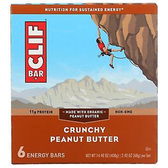 Clif Bar Crnchy Pnut Bttr 6Pc, Case of 9 X 14.4 Oz