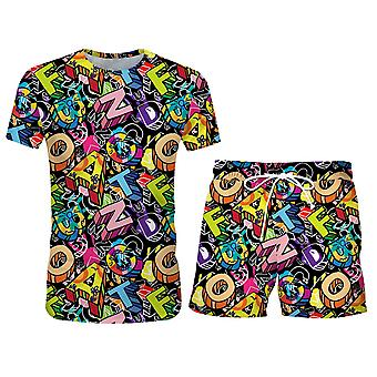 Mile Men's Casual 2 Piece Tracksuit Short Sleeve Top And Shorts Running Jogging Athletic Sports Set