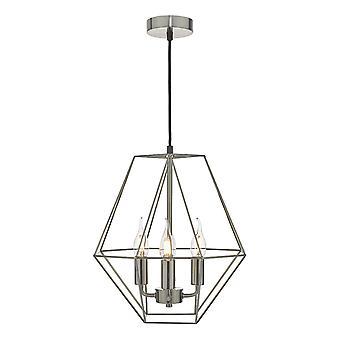 Hanglamp Satijn Chroom, 4x E14