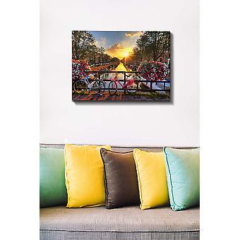 Kanvas Tablo (50 x 70) - 127 Flerfärgade dekorativa dukmålning