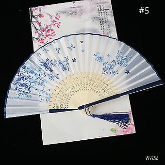 Chinesische Vintage Stil Falten Fan Kunst Handwerk Geschenk Tanz Hand Fan Home Decoration Ornamente(#5)