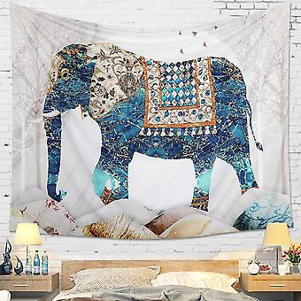 Mandala Wall Tapestry Indian Boho Psychedelic Elephant Hippie Wall Hanging Tapestries