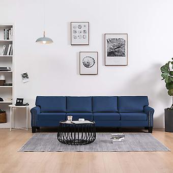 vidaXL 4 siège canapé tissu bleu
