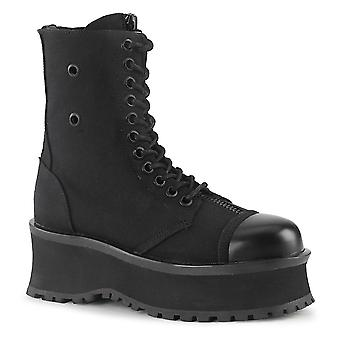 Demonia Unisex Boots FOSSOY-10 Blk Toile