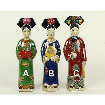 Fin AsiatiskLiving Kinesisk Keiserinne Porselen Figurine Tre Konkubiner Qing Dynasty Statuer Håndlaget Sett / 3