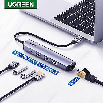 USB C محور مصغرة الحجم محول USB C قفص الاتهام لMacBook برو ماك بوك الهواء PC USB