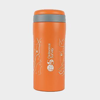 New Ordnance Survey Thermal Mug Orange