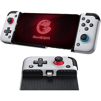 Nieuwe versie GameSir X2 Type-C Mobile Gamepad Gaming Controller voor Xbox Game Pass, PlayStation Now, STADIA, GeForce Now(zilver)