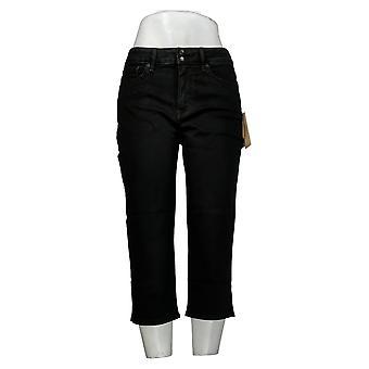 NYDJ Petite Skinny Croppped Jeans avec fentes latérales Noir A377694