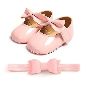 Baby Bow-knot Soft Sole Hook & Loop Bling Shoes